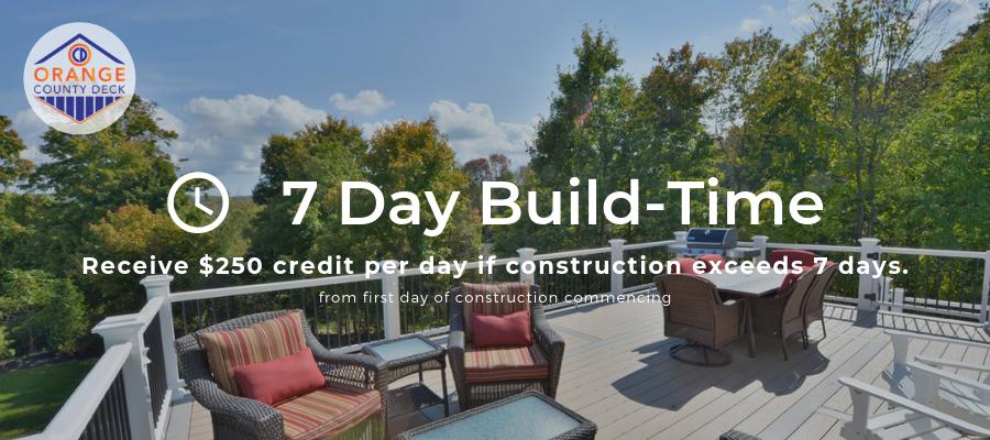 Build a deck in 7 days - 7 day decks from Orange County Deck Co. Orange County NY Deck Builder OCD