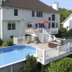 Double deck with pool