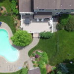 Hardscaping with pool and gorgeous landscaping