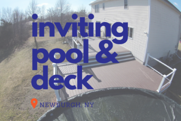 Inviting Pool and Deck in Newburgh NY