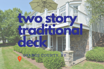 Two Story Traditional Deck in OC NY