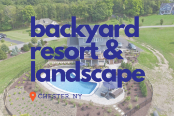 Backyard Resort with Custom Deck and Hardscaping in Chester NY
