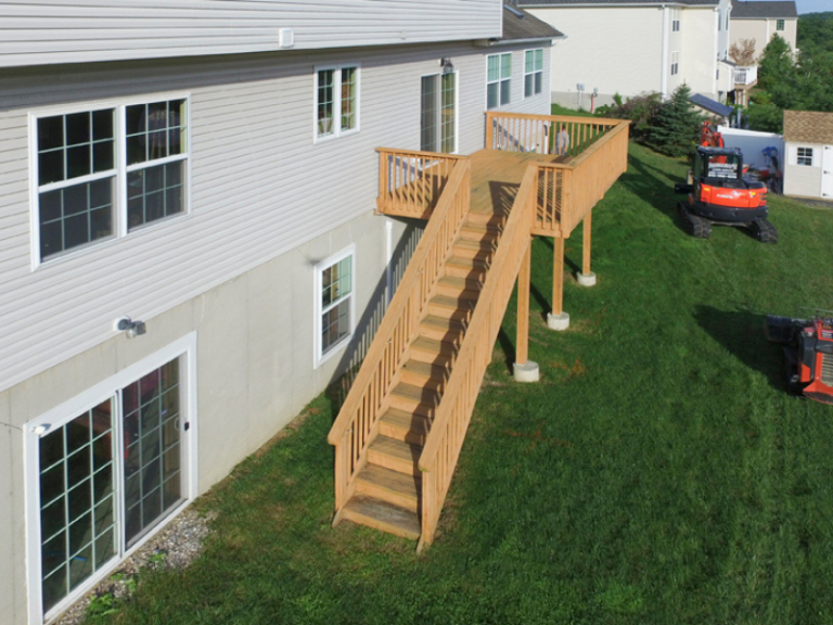 Before - Custom Deck Removal and Rebuild in Hudson Valley