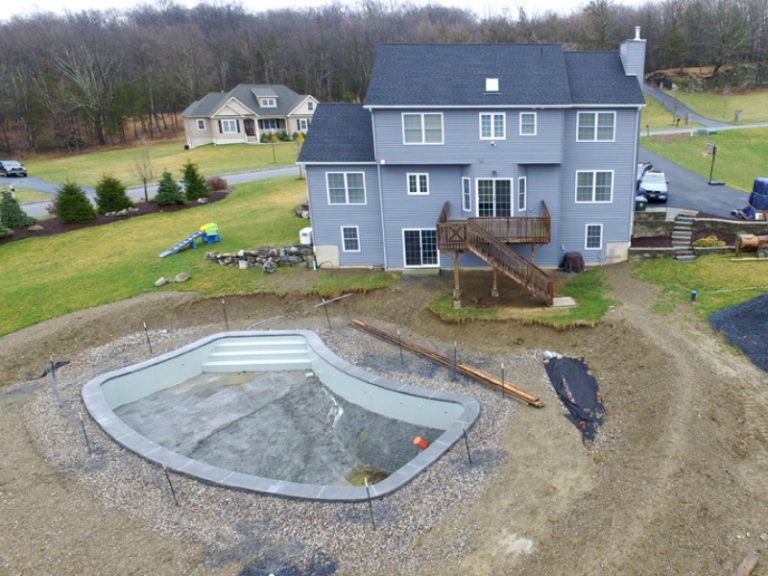Before - Custom Deck in Chester NY